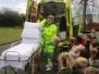 Ziekenwagen op bezoek